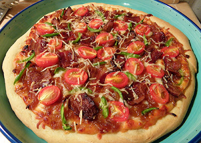 Perfect Bacon and Caramelized Onion Pizza!