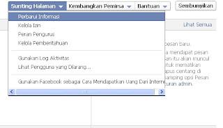 Cara edit Pengaturan Halaman facebook