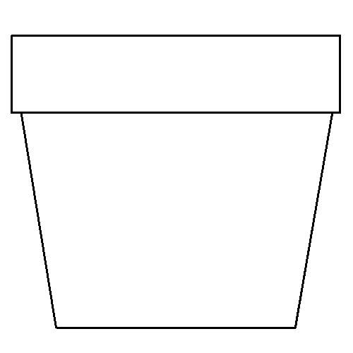 Colouring Picture Templates : Flower pot coloring page