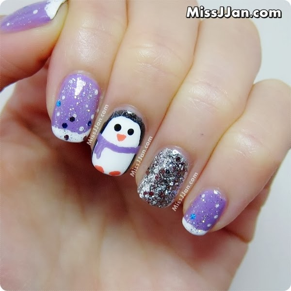 Holiday Nail Art Tutorials: MissJJan's Beauty Blog ♥: Cute Penguin Nails {Tutorial}