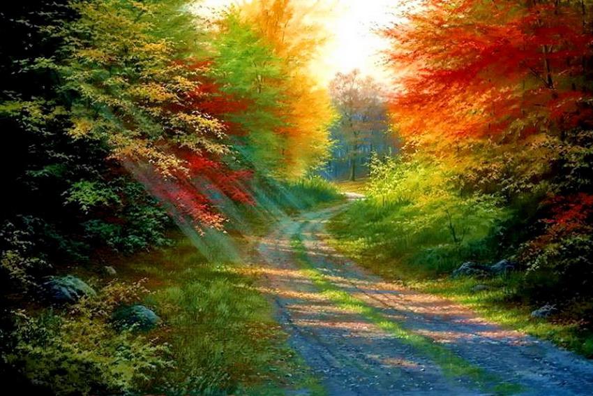 Im genes arte pinturas paisajes decoraciones del oto o en - Ver colores de pinturas ...