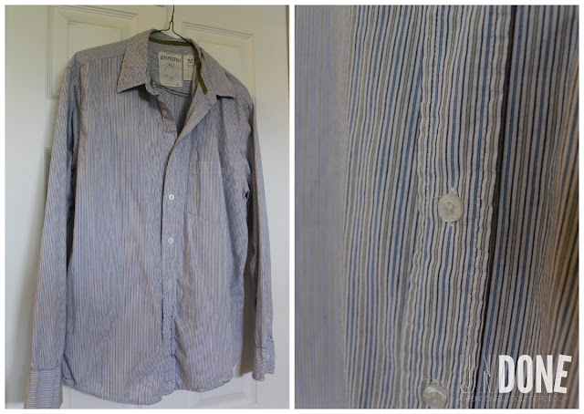 {The UNDONE Blog} Men's Green and Blue Striped Shirt