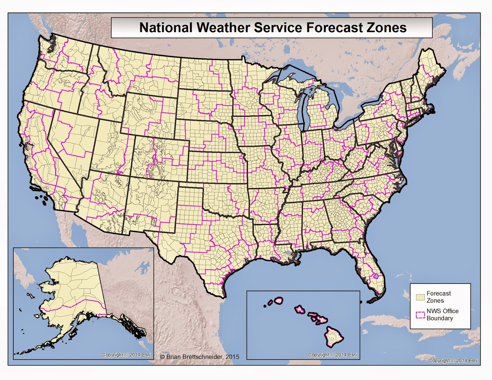 Map Of All Nws Offices In The U S