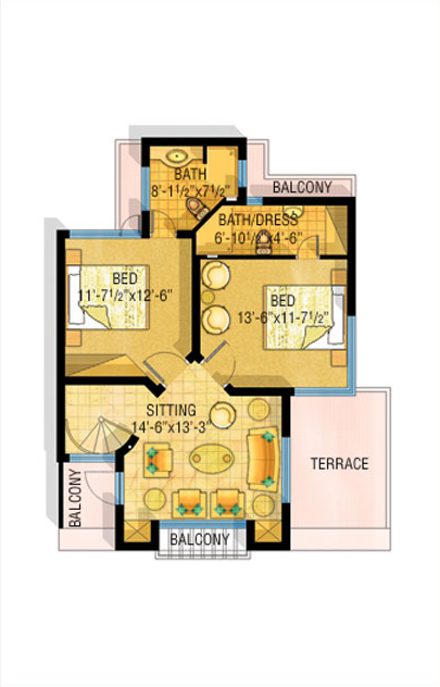 3d front bahria town lahore safari villas for Home map 3d