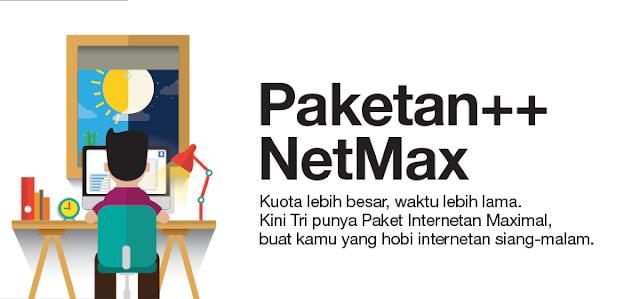 Paket Three Data NetMax Murah, Kuota Lebih Besar Waktu Lebih Lama