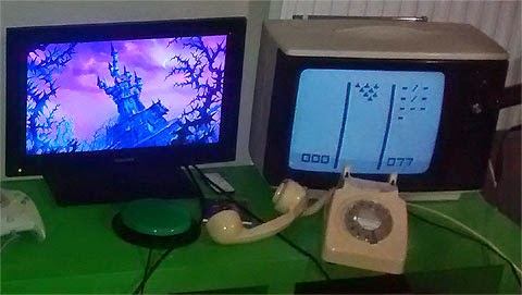GEEK 2015 line-up for SpecialEffect stand: Dragon's Lair for one-switch, and TV-POWWW played using a telephone.