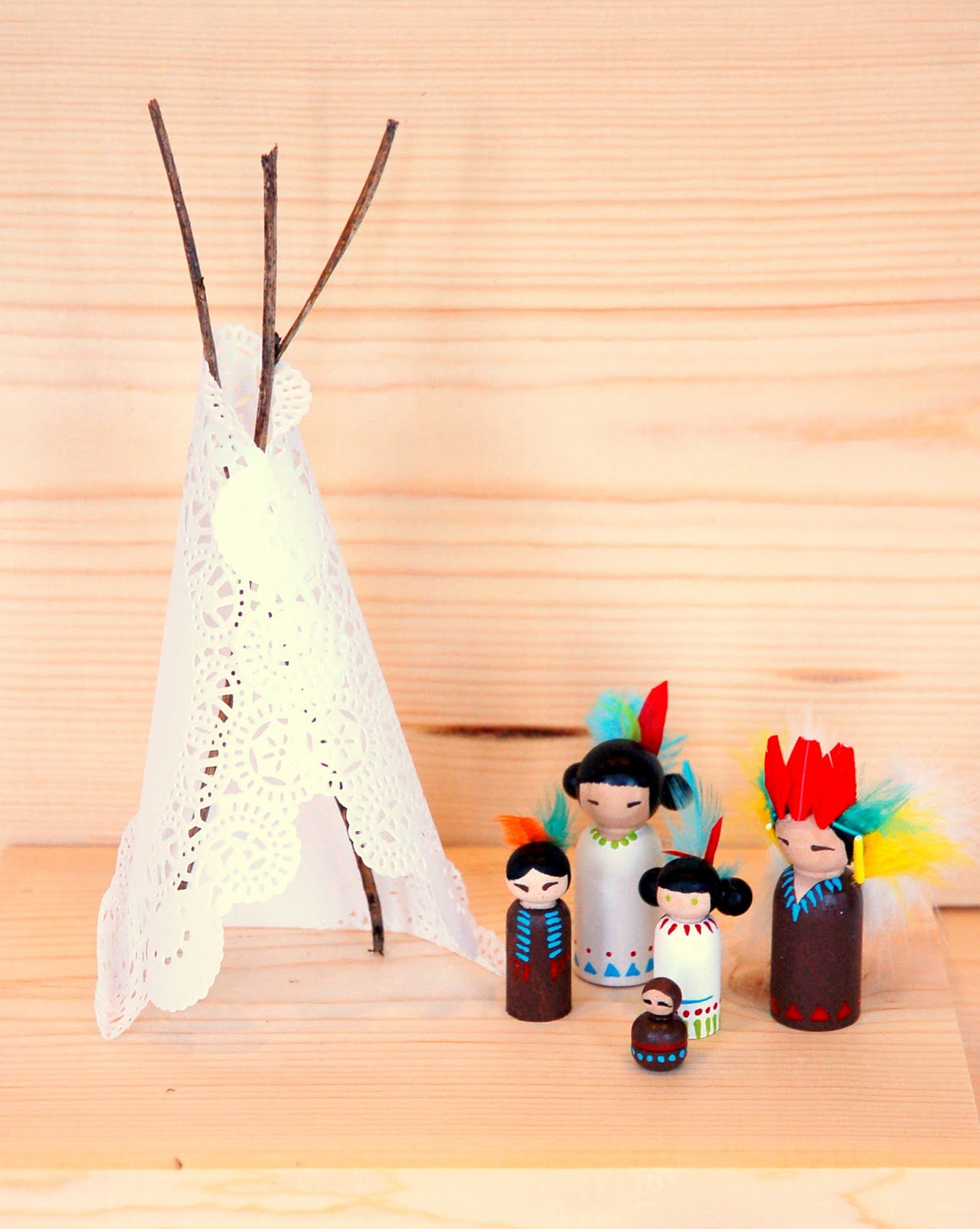 Indian tee pees for dolls
