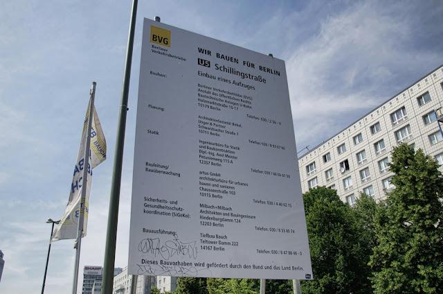 Baustelle Einbau eines Aufzuges, U5 Karl-Marx-Allee 23A, 10178 Berlin, 20.06.2013