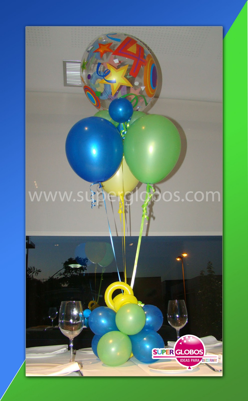 Decoraci n con globos para eventos y fiestas superglobos for Decoracion con globos