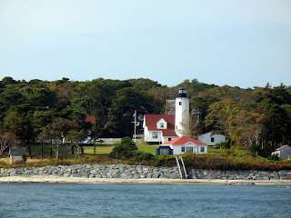 View of West Chop lighthouse off of the Martha's Vineyard ferry