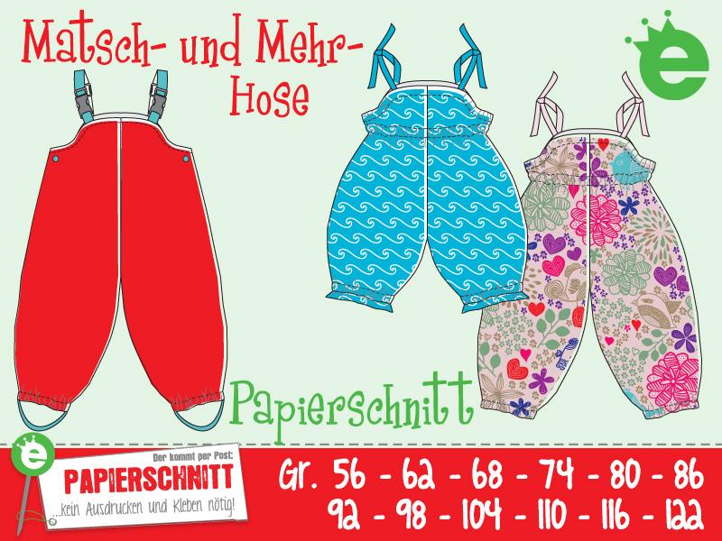 PU Regen Matsch Hose Buddelhose Regenhose Kinder Jungen Mädchen Gr 86-140 Neu