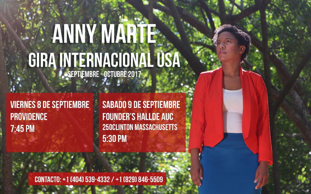 Anny Marte de Gira para Estados Unidos