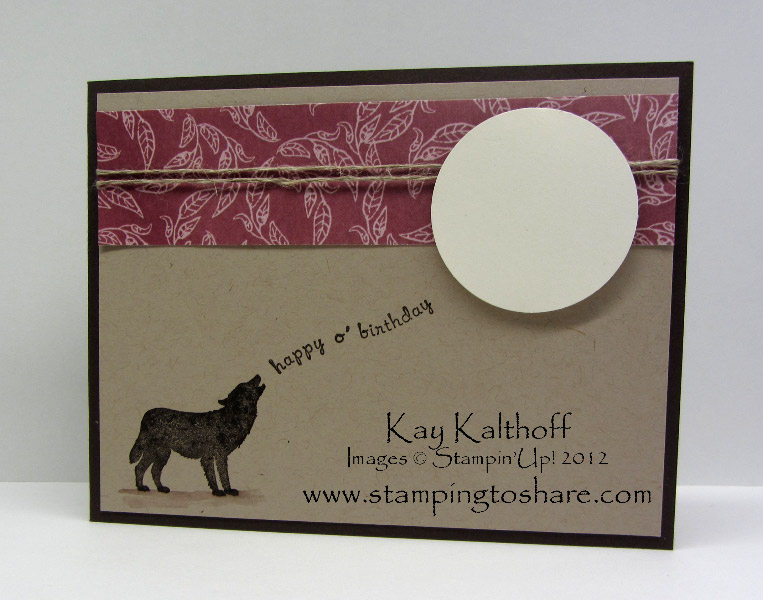 330 Stampin Up Nature Silhouettes For A Manly Birthday Card