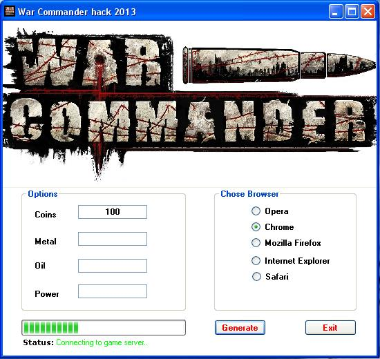 War Commander Hack Tool 2013 - Free
