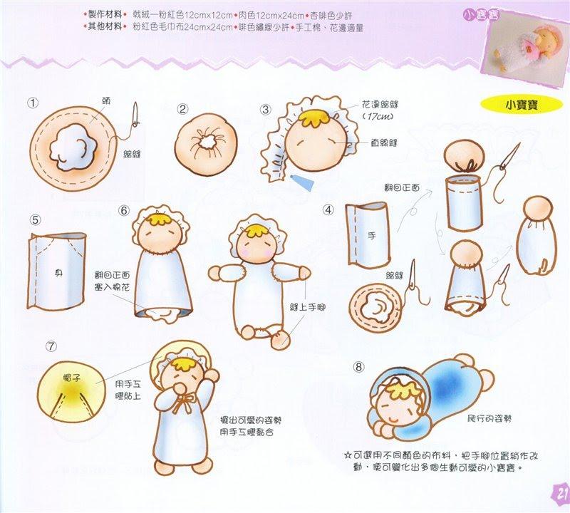 Blog Feltro-Aholic ♥ : Bebezinho em feltro - Passo a passo