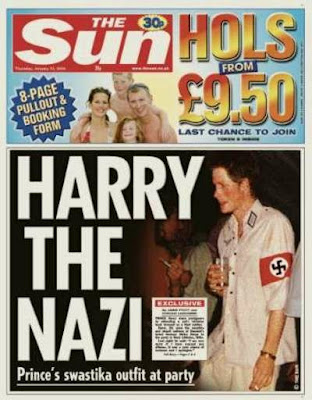 Prince Harry dressed as Nazi for party