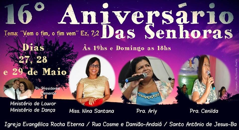 16º Aniversário das Senhoras/ Rocha Eterna