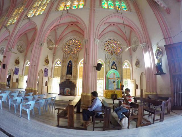Our Lady of Lourdes Church Tiruchirappalli trichy worshipper
