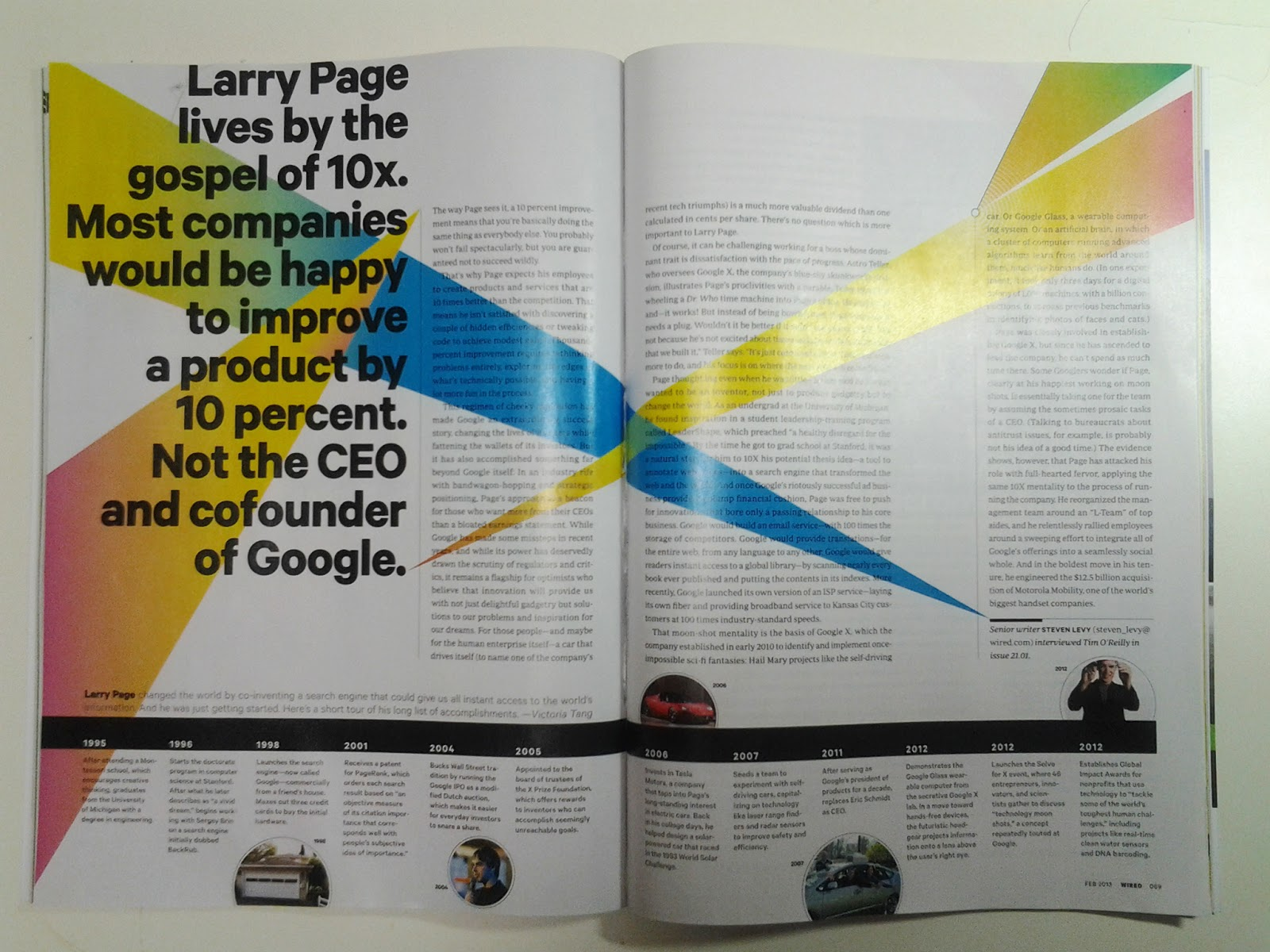 the future according to google's larry Page's own design sense, according to people who've worked with him, is in tune with google's once-celebrated spare search-engine interface, and he reportedly can be flummoxed by more .