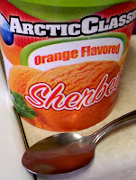 Arctic Classic Orange Flavored Sherbet ice cream