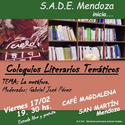 SADE MENDOZA inicia Ciclo de Coloquios Literarios Temáticos