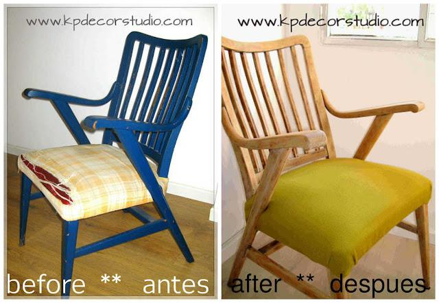silla danesa, sillas de madera antiguas, sillas vintage restauradas, sillas nordicas, silla tapizado verde