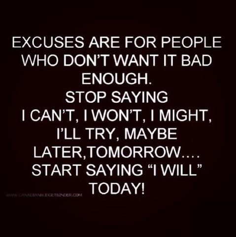 excuses staying