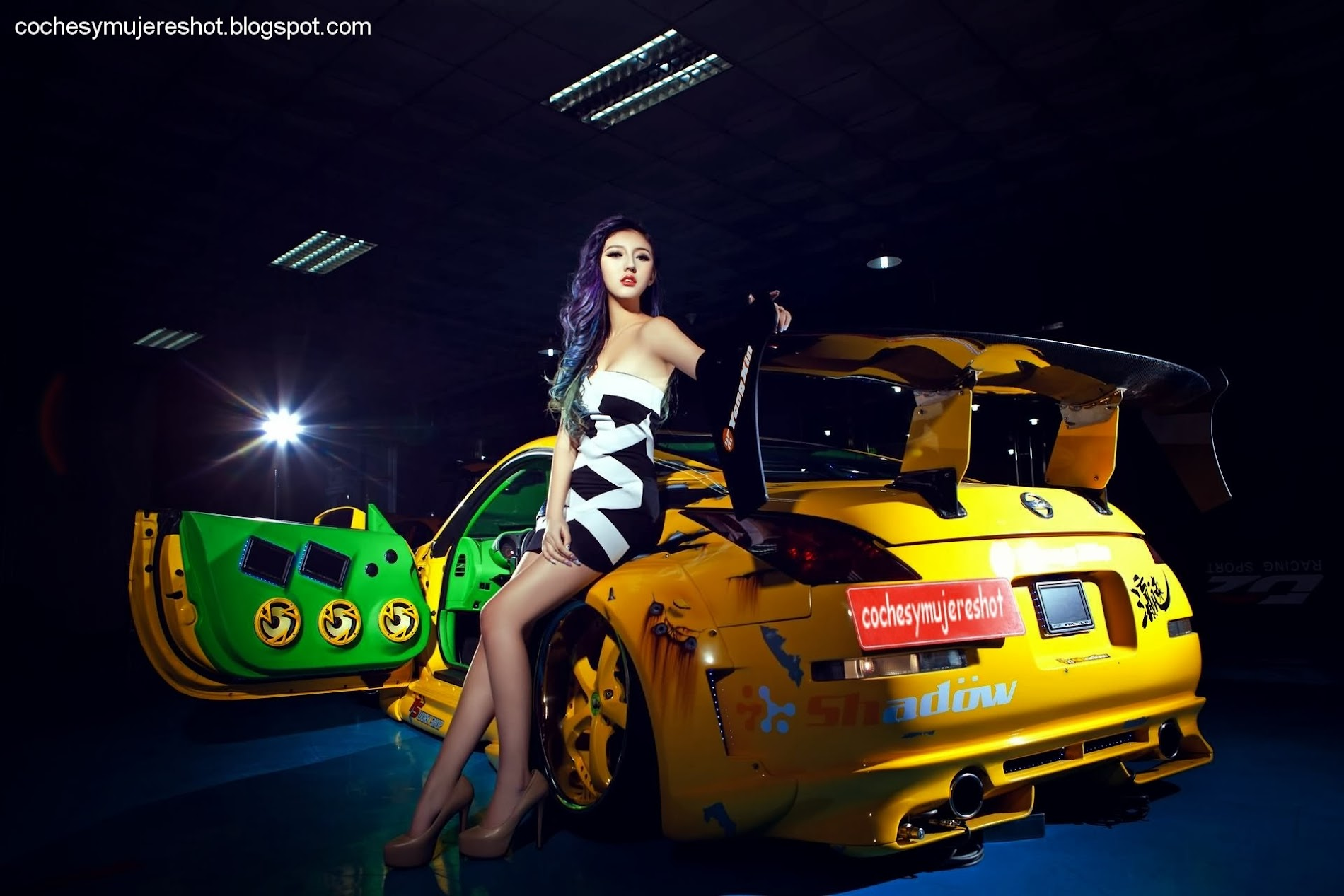 Nissan tuning girl and asian nice car facebook