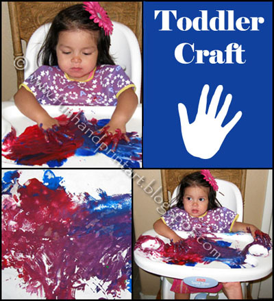 Toddler Craft with painting