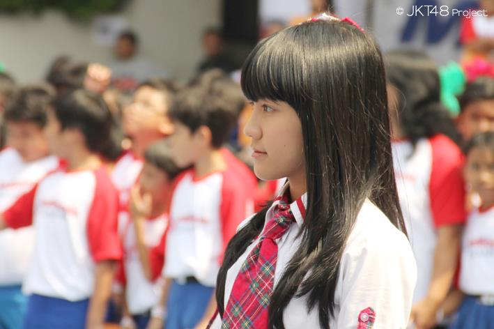 Cindy JKT48 di sekolahnya