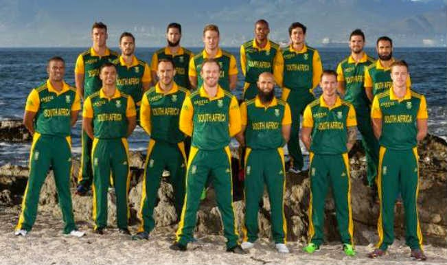 South Africa Team at World Cup 2015