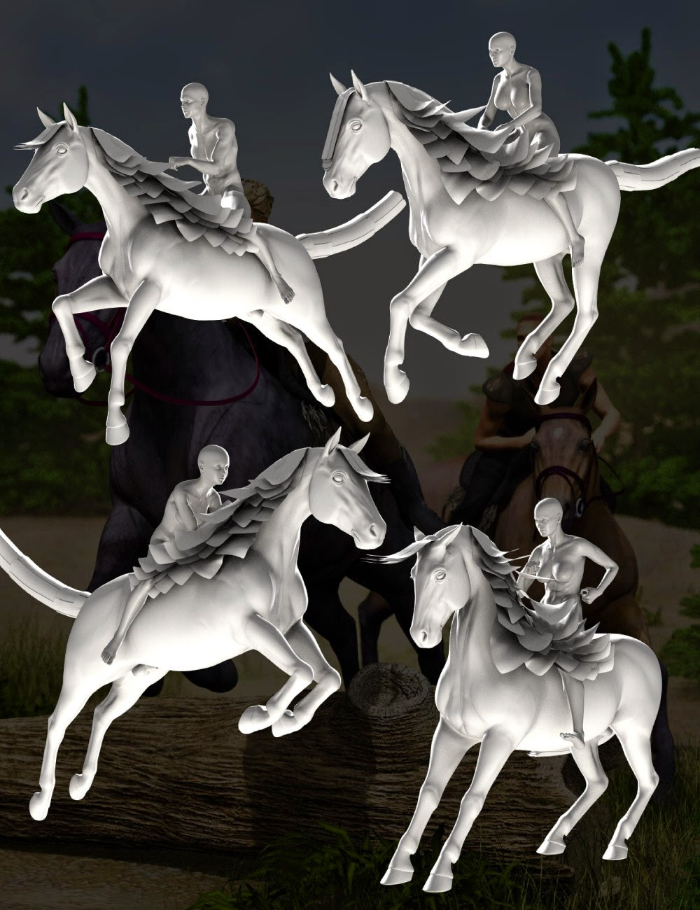 DA Cheval et Poses Rider