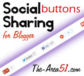 social share buttons under blog posts