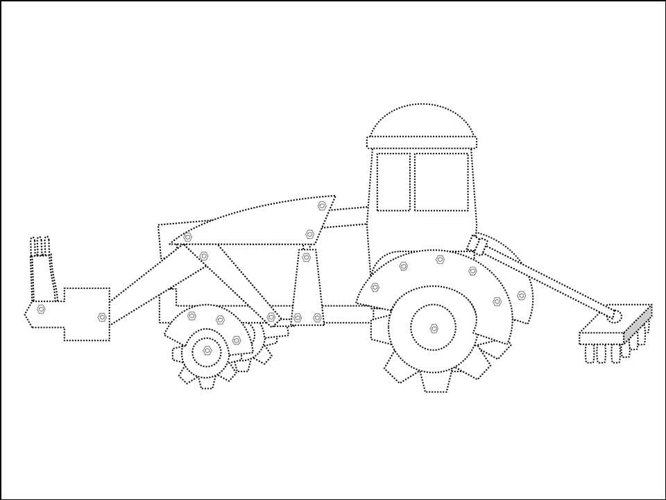 Páginas para colorir Carros O caminhão Mate e o trator
