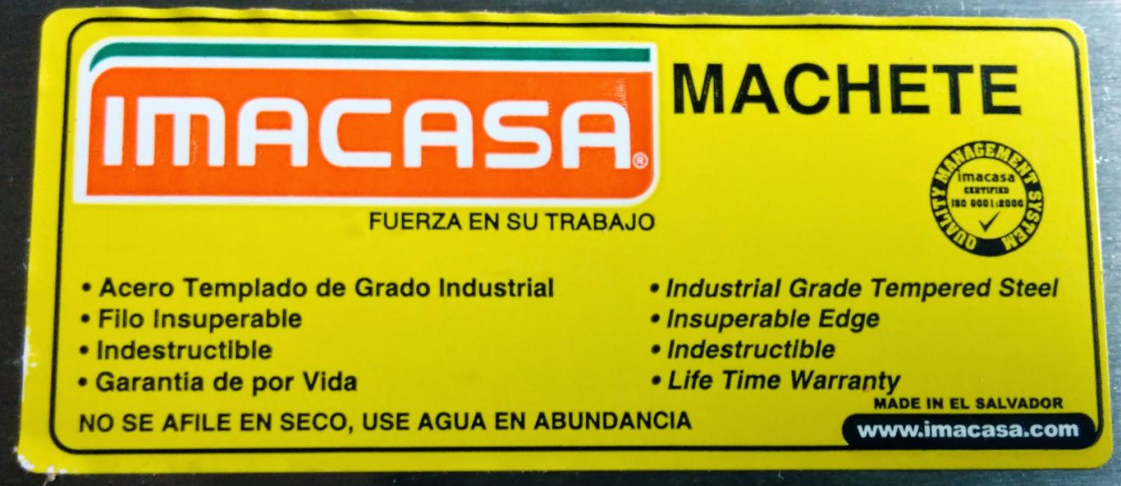 imacasa quality machete