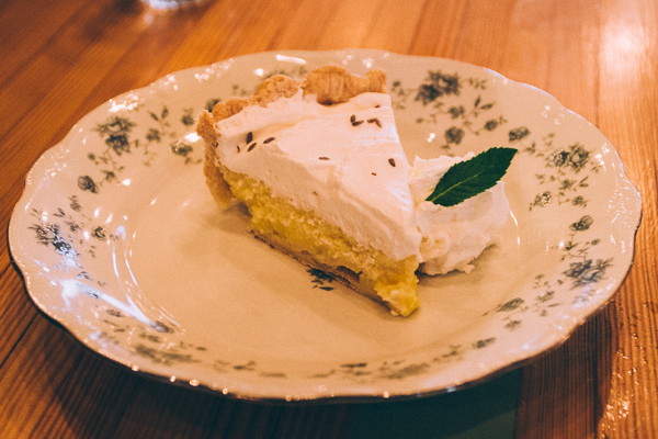 Lemon and lavender pie at Pinewood Social in Nashville Tennessee