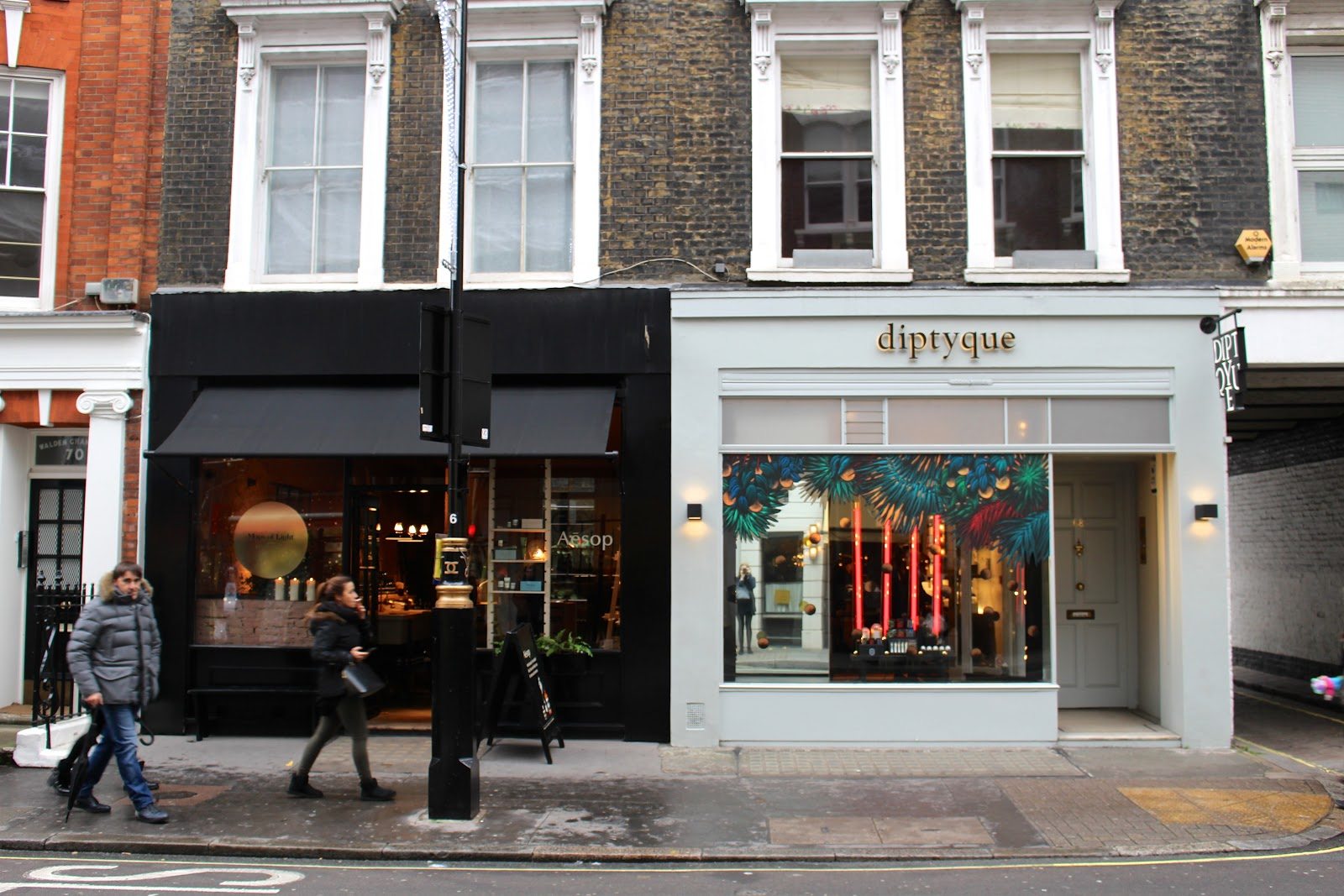 Marylebone high street christmas aesop diptyque