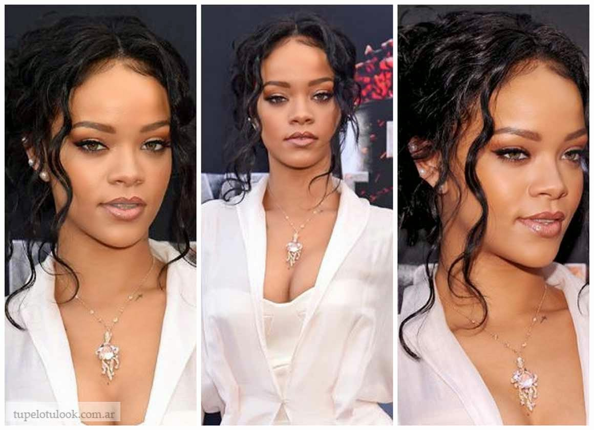 peinados 2014 cabello rizado Rihanna