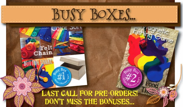 Little Learning Lovies presents Busy Boxes for Preschoolers!