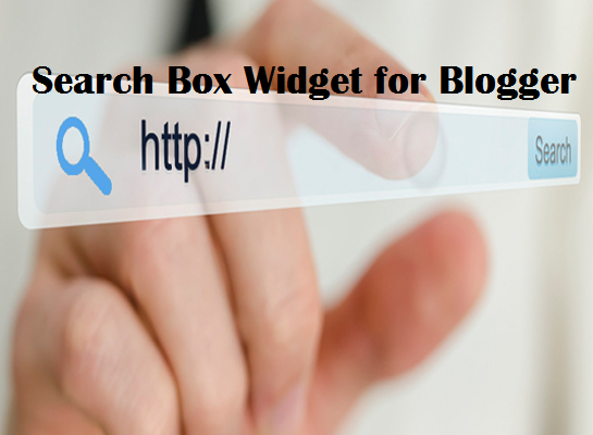 Search Box Widget for Blogger