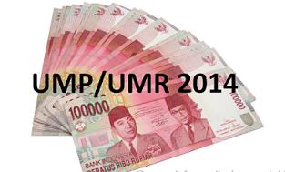 daftar upah minimum provinsi ump seluruh indonesia tahun 2014 upah