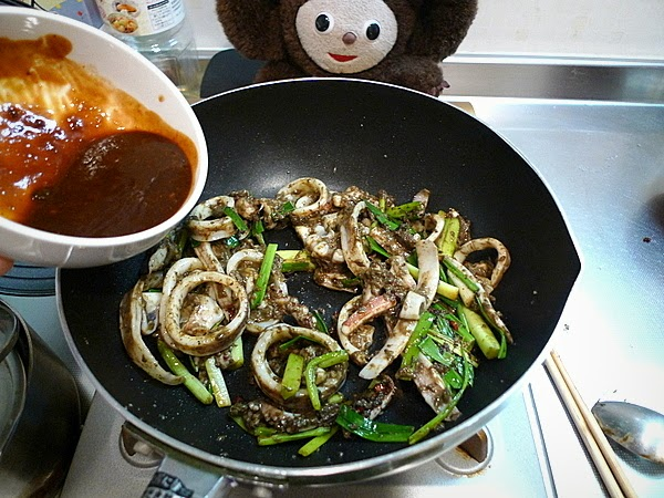 イカワタ味噌炒めの作り方(3)