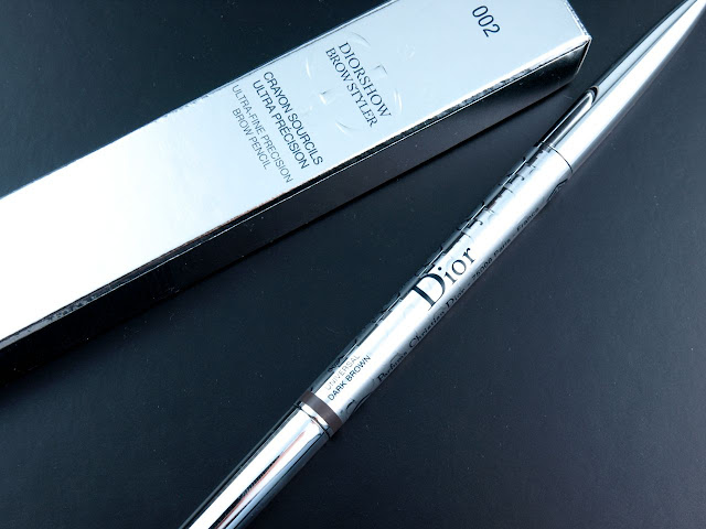 """Dior Diorshow Brow Styler Ultra-Fine Precision Brow Pencil in """"002 Universal Dark Brown"""": Review and Swatches"""