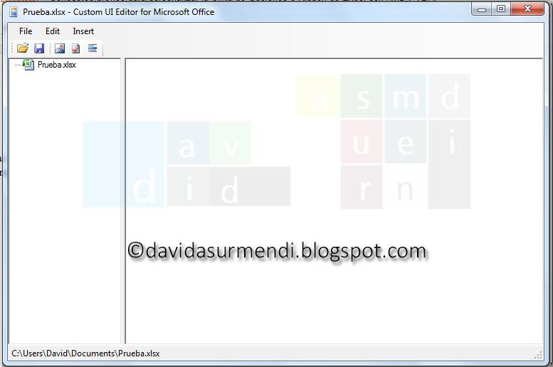 Custom UI Editor con el documento abierto