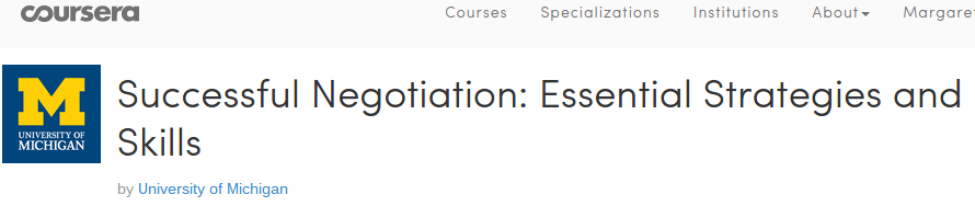 Coursera Negotiation Review