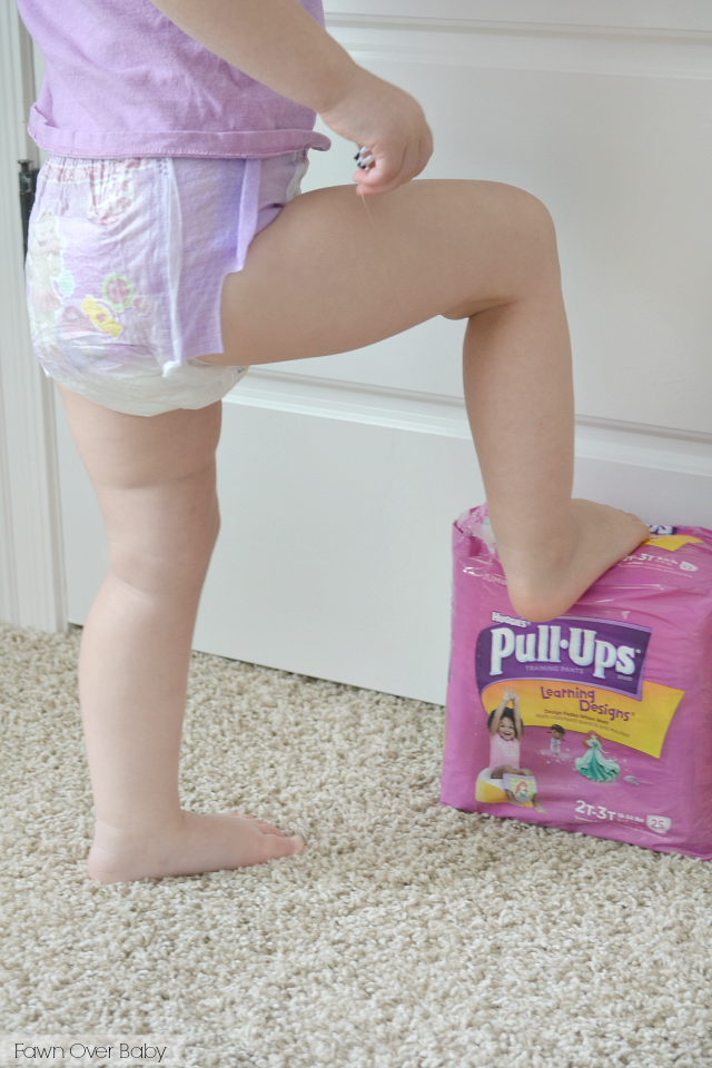 Adult girl wearing diaper