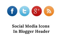 Social Media Icons In Blogger Header