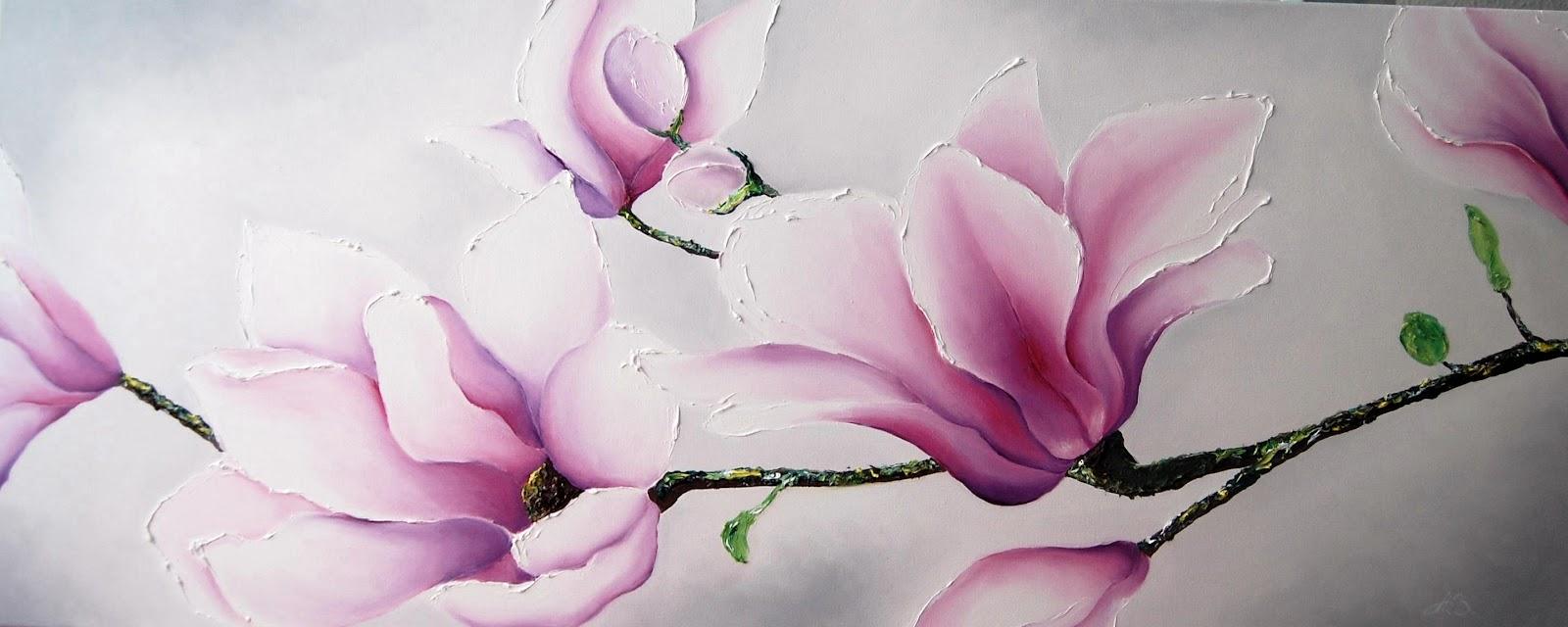 al por mayor flor de magnolia de pinturas AliExpress en