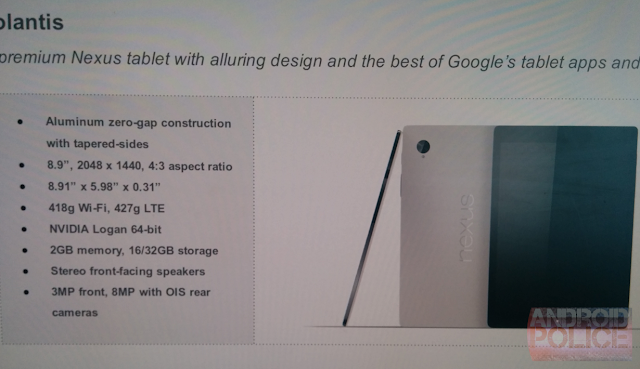 HTC Volantis specifications