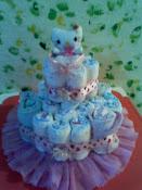 Torta de pañales para baby showers.